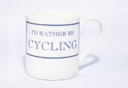 """I'd Rather Be Cycling"" fine bone china mug from Stubbs Mugs"